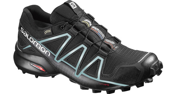 Salomon Speedcross 4 GTX Trailrunning Shoes Women black/black/metallic bubble blue